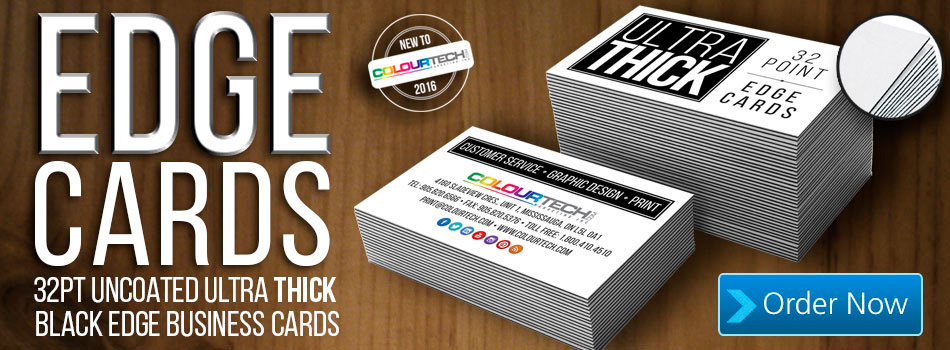 Ultra Thick Black Edge Business Cards