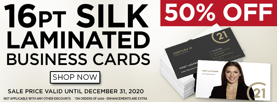 50% OFF Silk Matte Laminated Business Cards