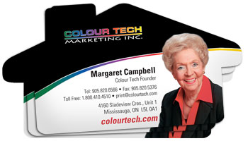House Shaped Business Cards Colour Tech Marketing Inc