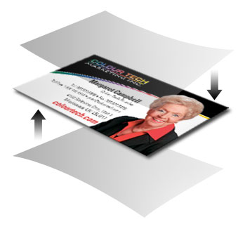 Laminated business cards colour tech marketing inc colourmoves Image collections